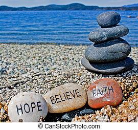 credere, pietra, guarigione, fede, speranza