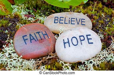credere, stones., fede, speranza