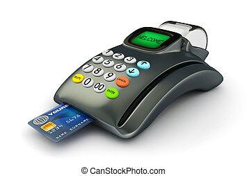 credito, 3d, scheda, pos-terminal