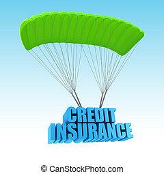 credito, concetto, assicurazione, illustrazione, 3d