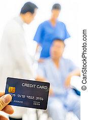 credito, concetto, assicurazione sanitaria, scheda