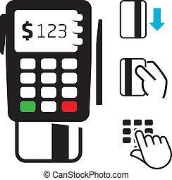credito, pos-terminal, scheda, icone