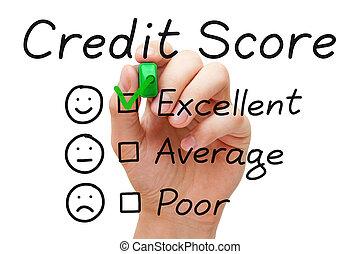 credito, punteggio, eccellente