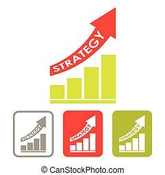 crescente, grafico, successo, strategia