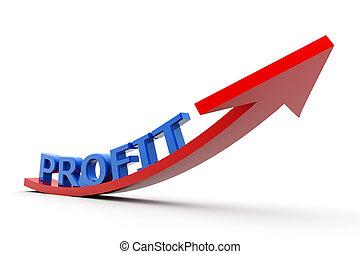 crescente, profitto, grafico