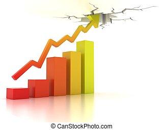 crescita, affari, finanziario