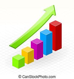 crescita, affari, successo, grafico