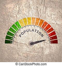 crescita, concetto, popolazione