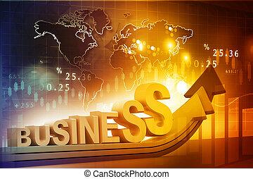 crescita, fondo, concetto, affari