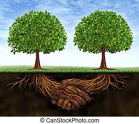 crescita, lavoro squadra, affari
