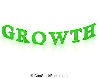 crescita, segno, parola, verde