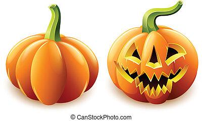 cricco-o-la lanterna, arrabbiato, halloween zucca, faccia