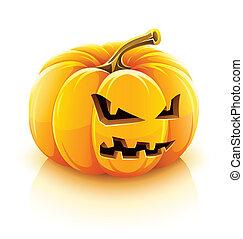 cricco-o-la lanterna, arrabbiato, halloween, zucca
