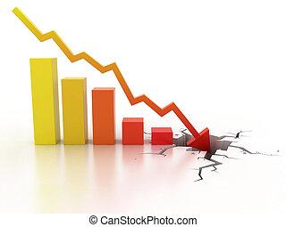 crisi, concetto affari, finanziario