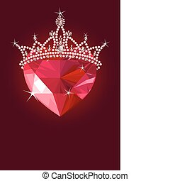 cristallo, cuore, corona