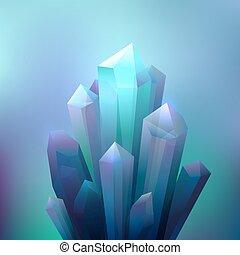 cristallo, minerali, fondo