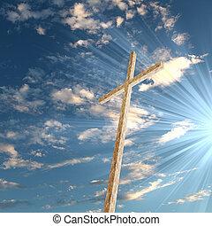 cristiano, cielo, croce, contro