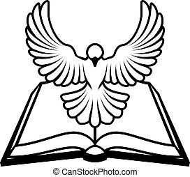 cristiano, concetto, colomba, bibbia