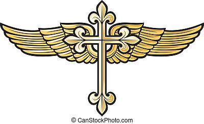 cristiano, croce, ala