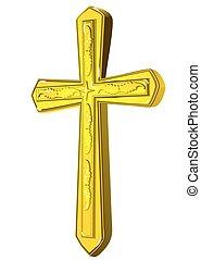cristiano, croce, oro