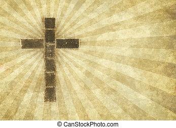 cristiano, croce, pergamena