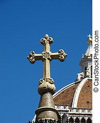 cristiano, fondo, basilica, croce