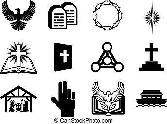 cristiano, icone religiose