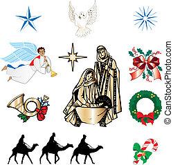cristiano, natale, icone