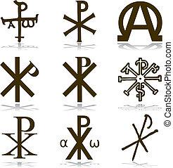 cristiano, set, vector.