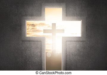 cristo, simbolo, forma, croce