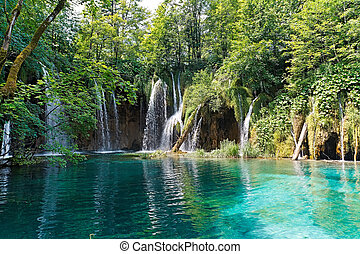 croazia, lago, cascate