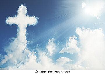 croce, nuvola