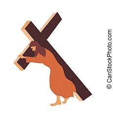 croce, porta, gesù, crocifissione