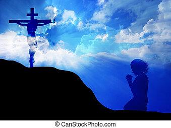 croce, preghiera