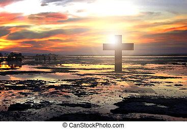 croce, spiaggia, cristiano