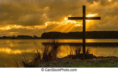 croce, sunrays