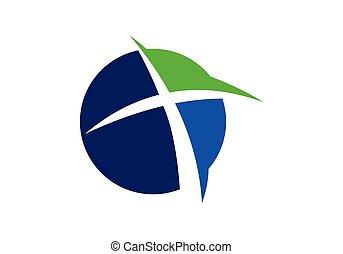 croce, symbols., chiesa, segno, logo., cristiano, gesù