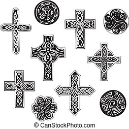 croci celtiche, cpirals, nodo