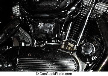 cromo, motore, motocicletta