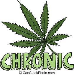 cronico, schizzo, marijuana