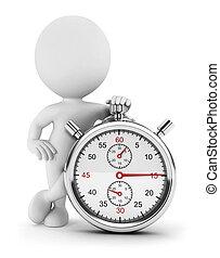cronometro, bianco, 3d, persone