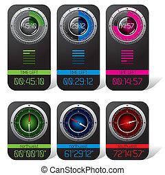 cronometro, digitale, bussola