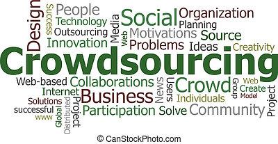 crowdsourcing, parola, nuvola