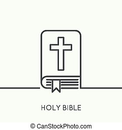 crucifix., bibbia, aperto