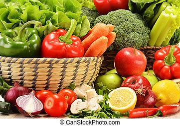 crudità verdure crude, composizione, varietà