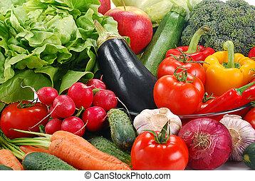 crudità verdure crude, varietà