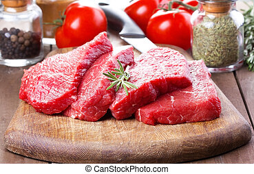 crudo, rosmarino, carne