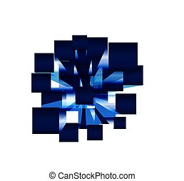 cubes., 3d, eps, astratto, fondo
