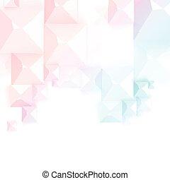 cubes., astratto, geometrico, grigio, vettore, forma
