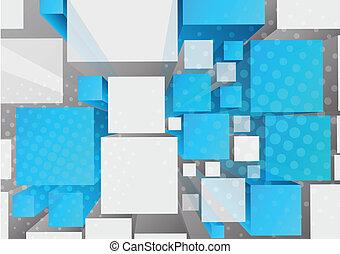 cubi, fondo, 3d